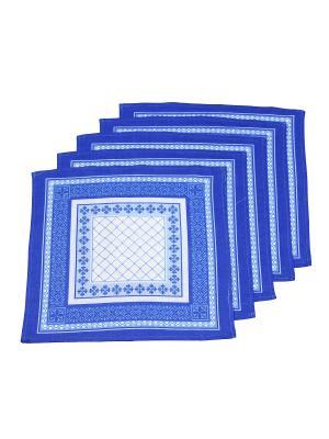 Платок, 15 шт Римейн. Цвет: синий
