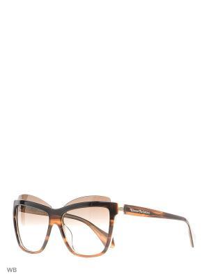 Солнцезащитные очки VW 877S 02 Vivienne Westwood. Цвет: коричневый