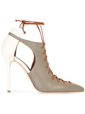 Туфли со шнуровкой Malone Souliers. Цвет: серый
