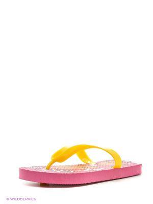Пляжная обувь детская Mon Ami. Цвет: красный
