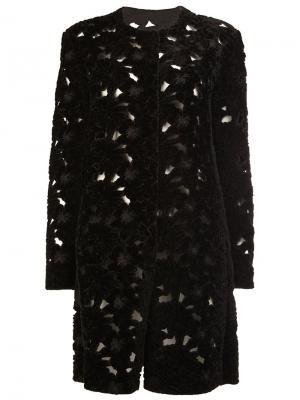 Однобортное пальто Giambattista Valli. Цвет: чёрный