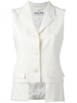 Cropped waistcoat Aalto. Цвет: белый