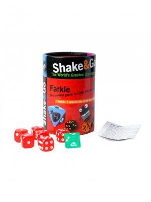 Настольная игра в кости Фаркл THE PURPLE COW. Цвет: черный, белый, зеленый, красный