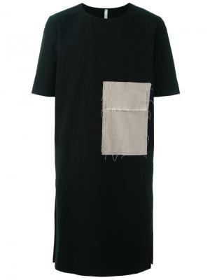 Удлиненная футболка Tachy Damir Doma. Цвет: чёрный