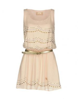 Короткое платье ATELIER FIXDESIGN. Цвет: светло-розовый