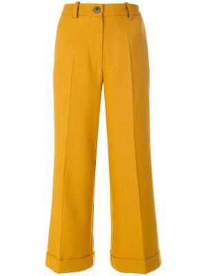 Кюлоты с манжетами Erika Cavallini. Цвет: жёлтый и оранжевый