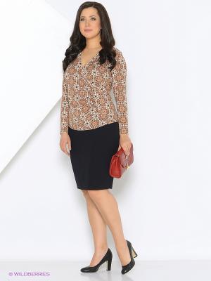 Блуза L-design. Цвет: коричневый