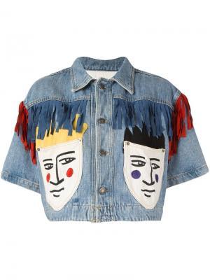 Укороченная джинсовая куртка Jc De Castelbajac Vintage. Цвет: синий