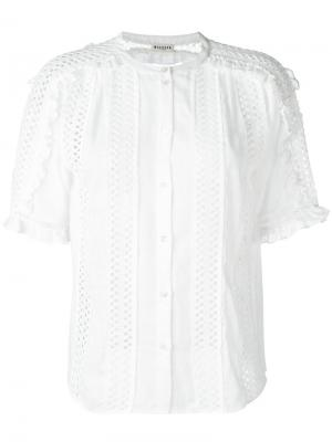 Рубашка с отделкой вышивкой Masscob. Цвет: белый