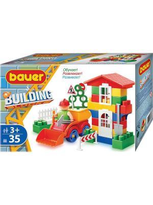 Конструктор Bauer серии Стройка 35 эл. (в коробке) 54/54. Цвет: серый