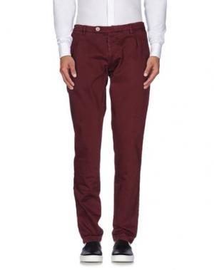 Повседневные брюки BERWICH. Цвет: красно-коричневый