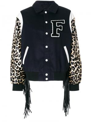 Куртка с бахромой Tyler Filles A Papa. Цвет: синий
