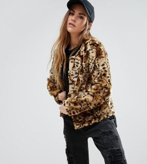 Unreal Fur Джинсовая куртка без воротника Dream. Цвет: коричневый