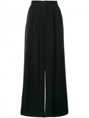 Широкие брюки  с завышенной талией Mm6 Maison Margiela. Цвет: чёрный