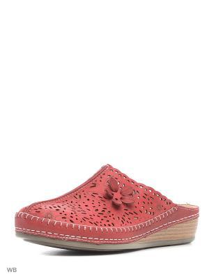 Пантолеты Covani. Цвет: красный