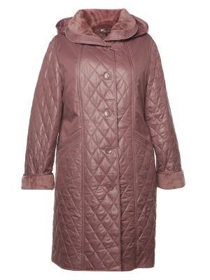 Пальто AMALIA COLLECTION. Цвет: розовый