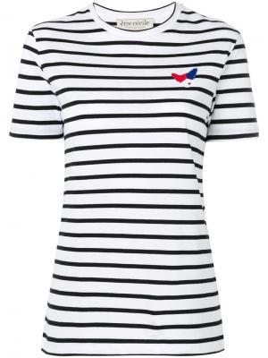 Breton stripe T-shirt Être Cécile. Цвет: чёрный