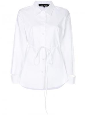 Рубашка с разрезом на плече Ter Et Bantine. Цвет: белый