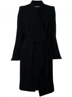 Пальто миди с поясом Ann Demeulemeester. Цвет: чёрный