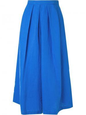 Укороченные широкие брюки Rachel Comey. Цвет: синий