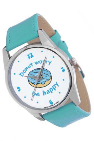 Часы MITYA VESELKOV. Цвет: голубой, белый