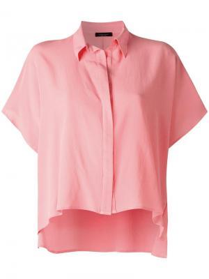 Укороченная рубашка Roberto Collina. Цвет: розовый и фиолетовый