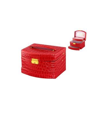 Шкатулка Красный комод Elan Gallery. Цвет: красный