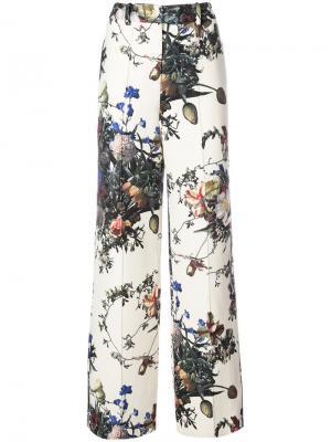 Шрокие брюки с цветочным принтом Adam Lippes. Цвет: многоцветный