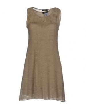 Короткое платье JEI O'. Цвет: голубиный серый