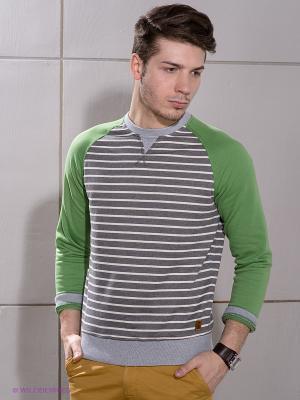 Джемпер Duck and Cover. Цвет: серый, зеленый