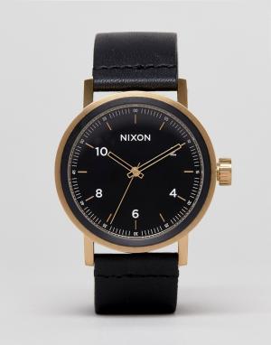 Nixon Часы с кожаным ремешком Stark. Цвет: черный