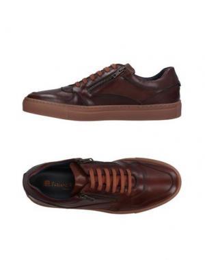 Низкие кеды и кроссовки FABIANO RICCI. Цвет: коричневый