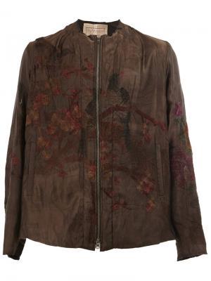 Куртка бомбер с вышивкой By Walid. Цвет: чёрный