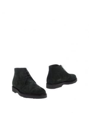 Полусапоги и высокие ботинки BARBATI. Цвет: темно-зеленый