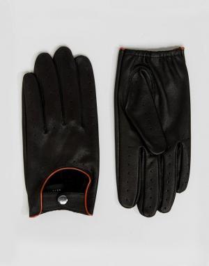 Barney's Originals Черные автомобильные перчатки Barneys. Цвет: черный