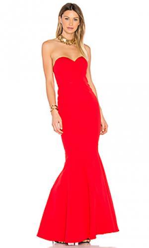 Вечернее платье mina Elle Zeitoune. Цвет: красный