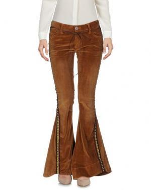 Повседневные брюки ONE x ONETEASPOON. Цвет: коричневый