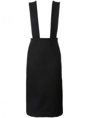 Платье с подтяжками Each X Other. Цвет: чёрный
