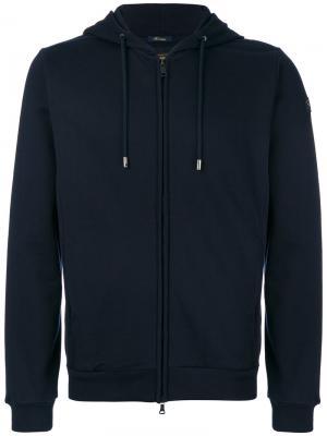 Куртка-бомбер на молнии с капюшоном Paul & Shark. Цвет: синий
