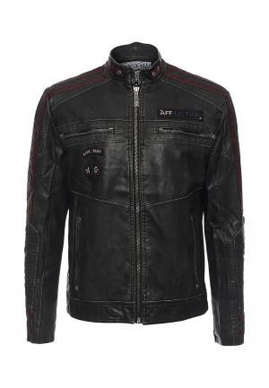 Куртка кожаная Affliction. Цвет: черный