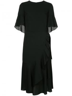Платье с запахом Goen.J. Цвет: чёрный