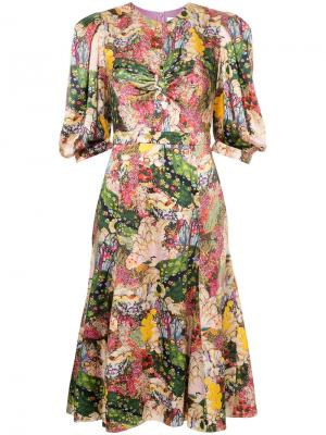 Платье Esmerelda Erdem. Цвет: многоцветный