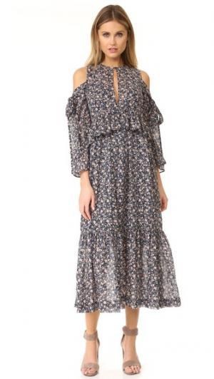 Платье с оборками и принтом Robert Rodriguez. Цвет: цветочный микс