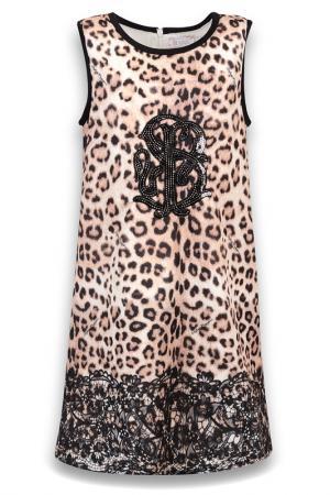 Платье De Salitto. Цвет: молочный, коричневый