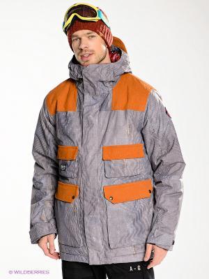 Куртка Analog. Цвет: серый, терракотовый