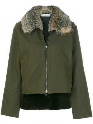 Пальто с воротником Inès & Maréchal. Цвет: зелёный