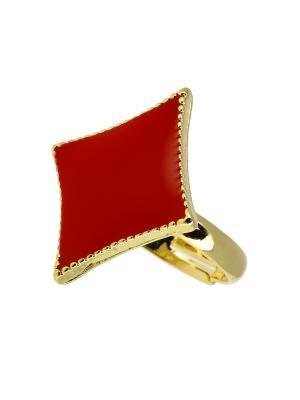 Кольцо BLAGOY ART. Цвет: красный, золотистый