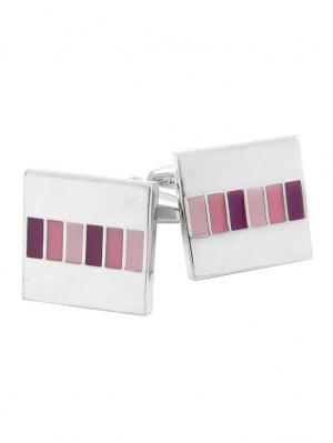 Запонки WHITE CUFF. Цвет: розовый