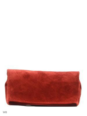 Клатч Фьюжн Фedora. Цвет: темно-красный, бордовый, красный