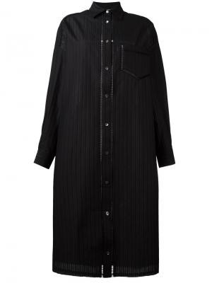 Платье-рубашка Veronique Branquinho. Цвет: чёрный